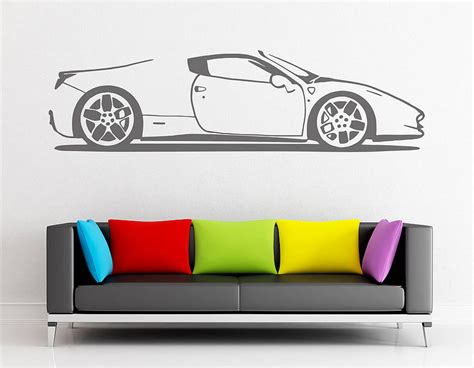 wall sticker vinyl spider sports car vinyl wall sticker contemporary wall