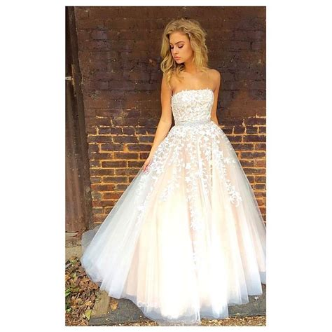 Strapless Wedding Dresses by Strapless Neck Gown Floor Length Tulle