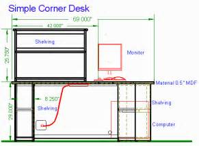 Simple Corner Computer Desk Plans Woodware Simple Corner Computer Desk 0 5 Quot Mdf