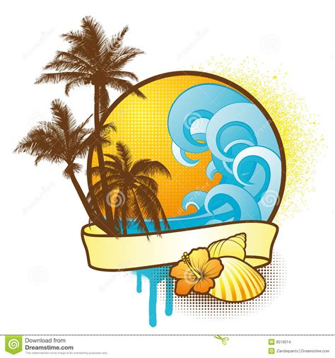 colorful tropical design elements stock images image