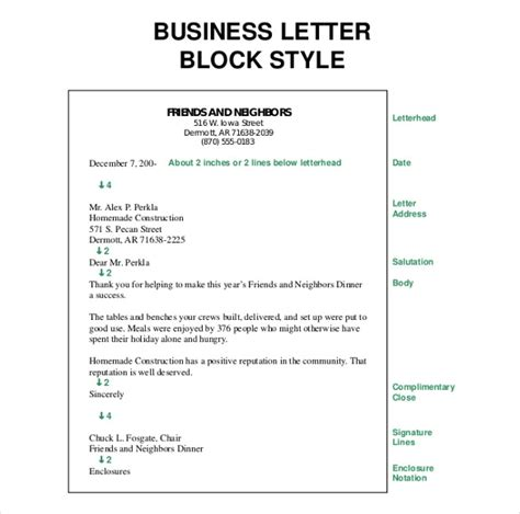 Semi Block Style Business Letter Definition Business Letter Definition Template Resume Builder