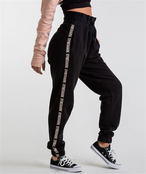 gymshark oversized joggers black
