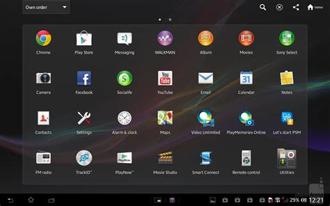 android interface apple air vs sony xperia tablet z interface and functionality