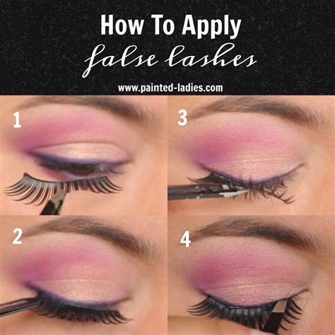 how to apply false lashes painted
