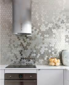 metal kitchen backsplash tiles make a statement with a metallic kitchen backsplash