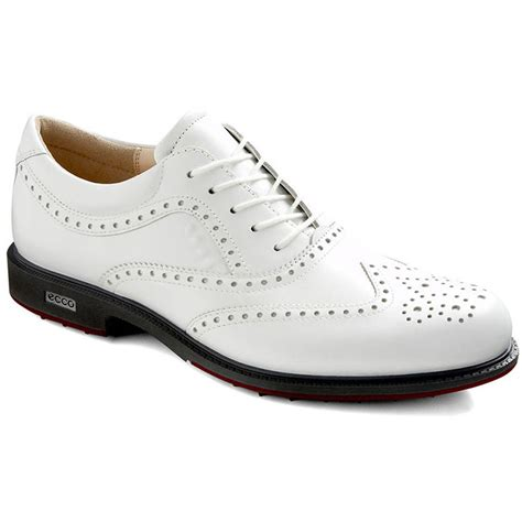 ecco tour hybrid wingtip golf shoes mens white brick at