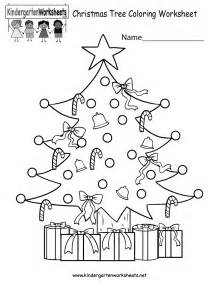 free printable christmas tree coloring worksheet for