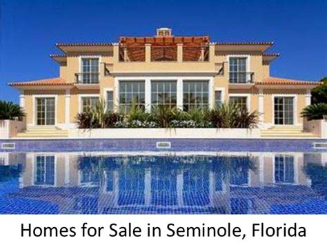 homes for sale in seminole florida