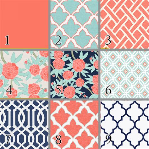 navy and coral baby bedding paeonia baby bedding coral mint navy floral trellis premium