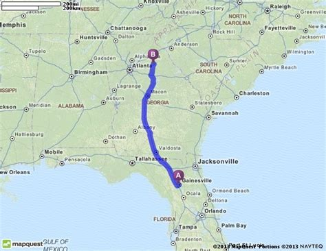 driving directions from gainesville florida to athens