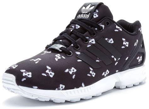 adidas originals zx flux ora print trainers in black s79507 ebay