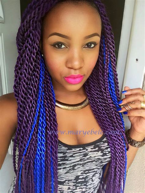 box braids in a bob with blue hair com purple blue braids peace love unicorns marley