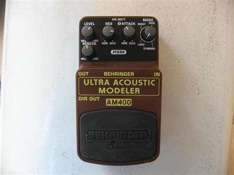 Behringer Guitar Stompboxes Ultra Acoustic Modeler Am400 behringer acoustic modeler am400 image 1647297 audiofanzine