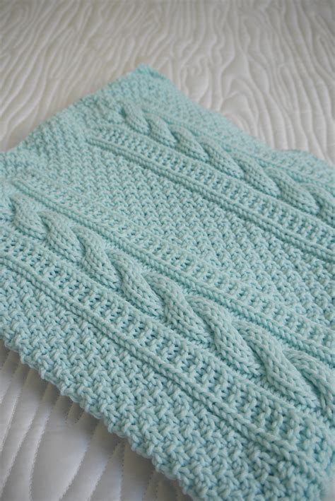 Pattern For Baby Blanket Knitting by Baby Blanket Classic Cables A Fashioned