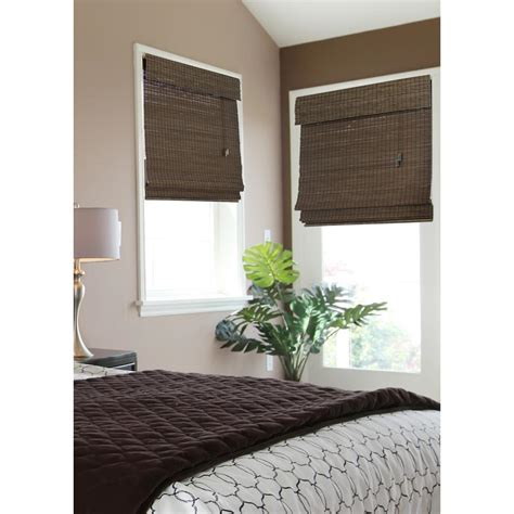 home decorators collection home decorators collection espresso flatweave bamboo roman