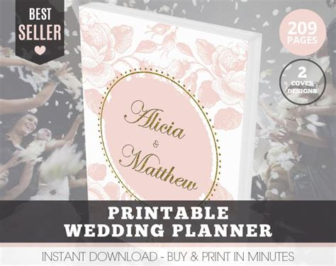 free printable wedding planner cover wedding planner organizer printable wedding planner