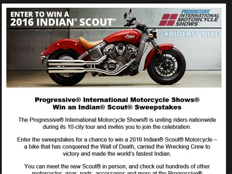 Indian Motorcycle Giveaway - motorcycle sweepstakes giveaway autos post