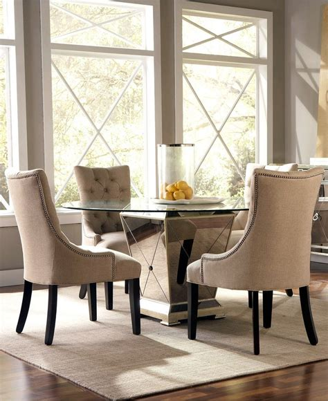 Marais Dining Chair Marais Dining Room Furniture 5 Set 60 Quot Mirrored Dining Table And 4 Chairs Shops