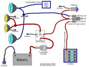 Car Lighting Wiring Diagram Aux Driving Lights