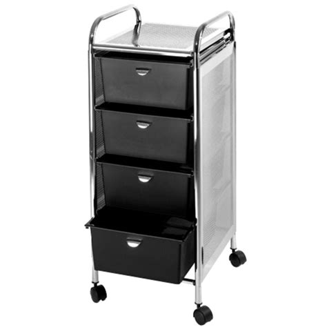 metal utility cart with drawers utility cart with 4 drawers metal frame with mesh side