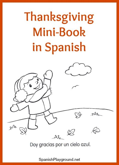 thanksgiving coloring page in spanish spanish thanksgiving minibook from monarca spanish