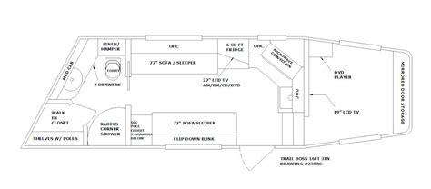 cargo trailer conversion floor plans cargo trailer conversion floor plans trailer plans box