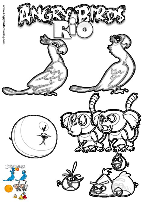 rio coloring pages games angry birds rio for coloring 18