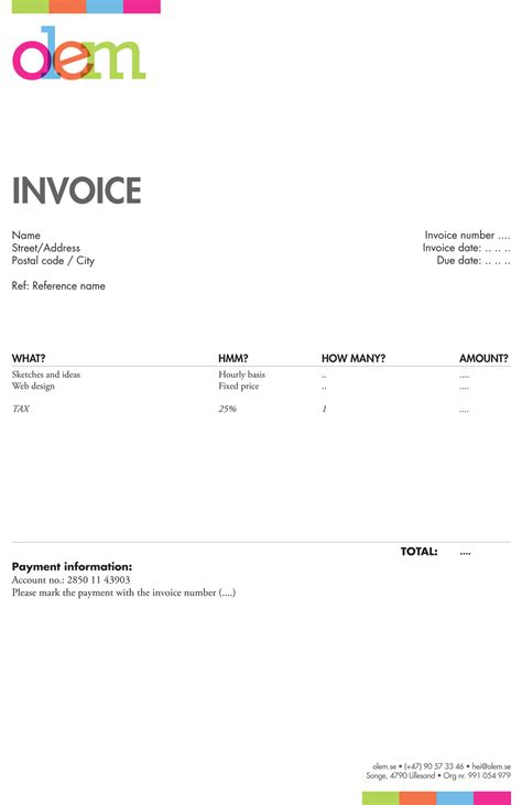 Invoice Template For Designers by Invoice Like A Pro Design Exles And Best Practices