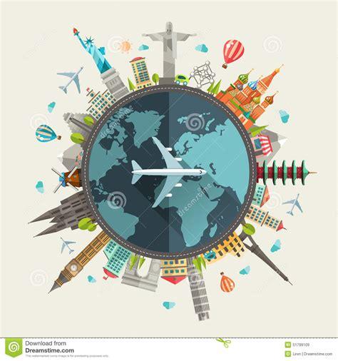 illustration layout composition illustration of flat design travel composition stock