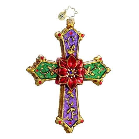 the patriot post shop radko christmas cross ornament