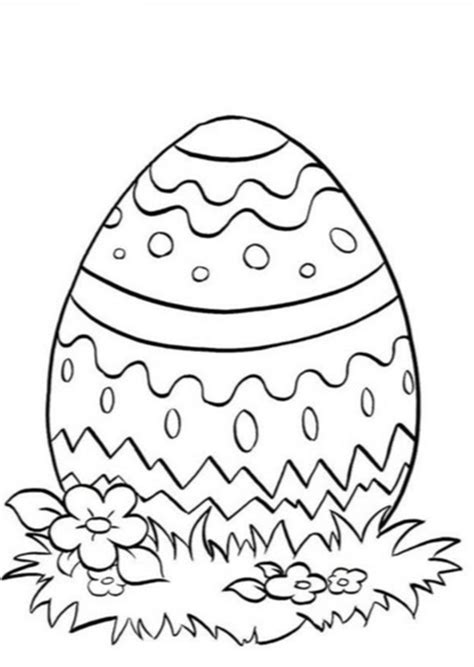 spring easter egg coloring page coloring book