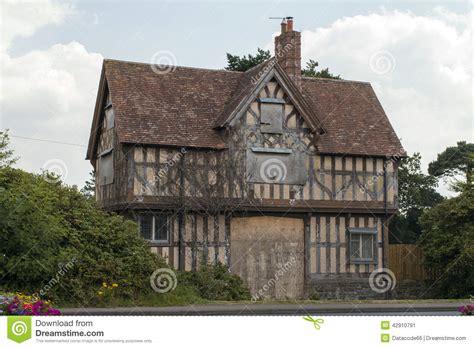English Cottage House Plans old tudor house stock image image of ruined tudor home