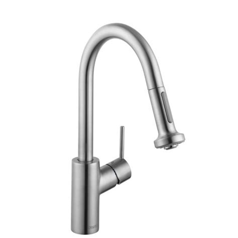 hansgrohe talis s kitchen faucet hansgrohe 04286000 talis s prep kitchen faucet with pull