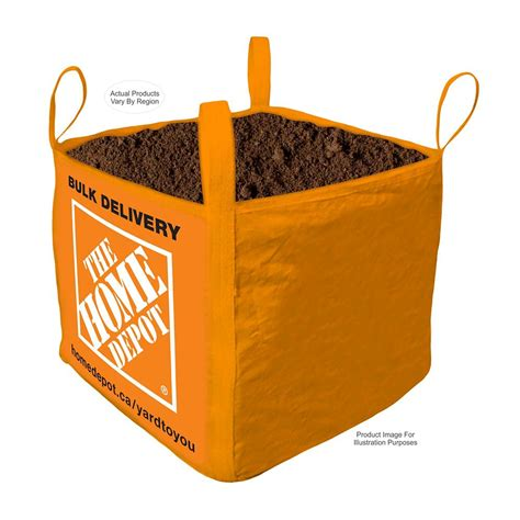 vigoro top soil bulk delivered bag 1 cubic yard the