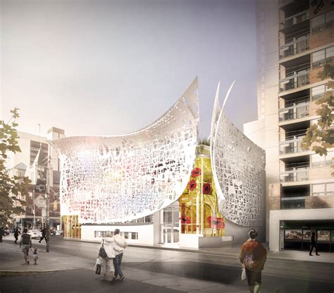 layout artist jobs toronto new facade peels away from building and comes with