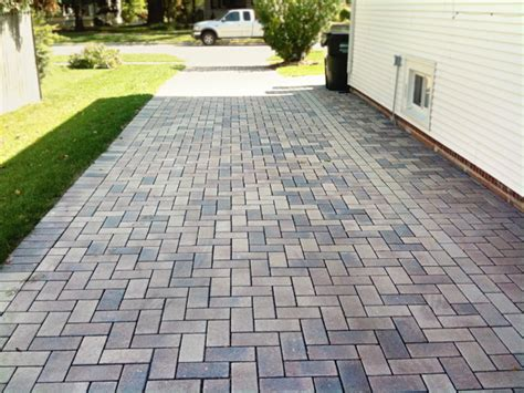 permeable driveway traditional landscape chicago