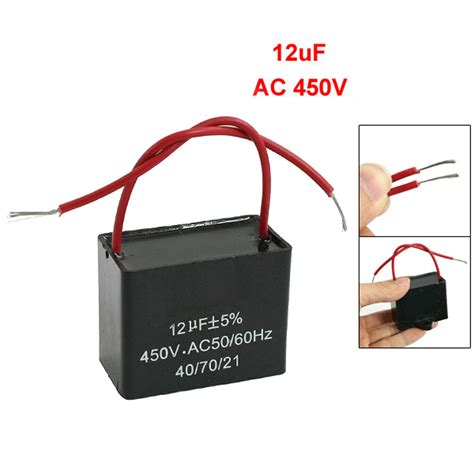 fan capacitor working cbb61 12uf ac 450v 50 60hz motor run ceiling fan capacitor dt ebay