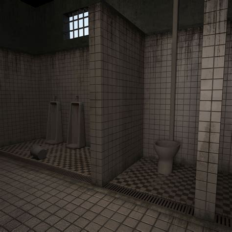 jail bathroom bathroom prison 3d model