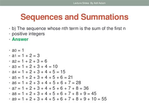 pattern rule for 2 4 10 28 sequences and summations in discrete mathematics