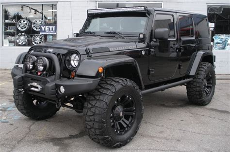 jeep modified black 2013 custom black jeep wrangler unlimited rubicon for sale