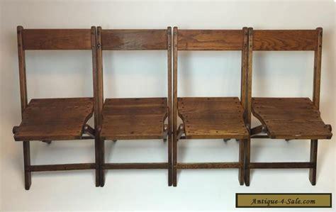 vintage wood folding chairs value vintage antique wood oak wooden folding chairs set of 4