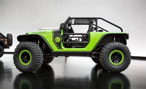 Jeep Wrangler Hp Jeep Trailcat Is The 707 Hp Hellcat Powered Wrangler From