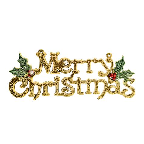 merry christmas words ornament pendant wall door xmas tree