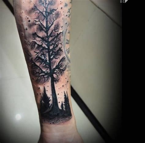 tree tattoos on forearm forearm forest black tree by zorka calore golfian
