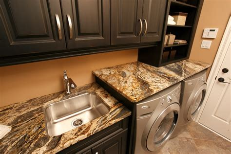 Laundry Countertop by Granite Laundry Room Traditional Laundry Room Other