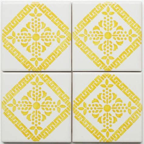 yellow pattern tiles yellow tiles blazing yellow pinterest