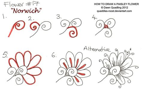 doodle flowers tutorial how to draw paisley flower 17 norwich by quaddles roost on