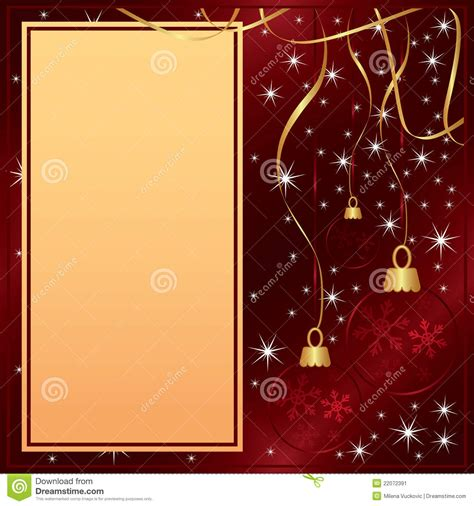 elegant merry christmas red card stock image image