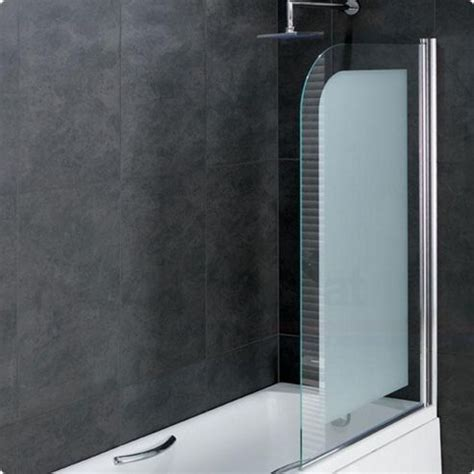 frosted bath shower screens buy duchy rosetta bath screen with frosted 6mm easy clean glass with silver profile 850mm wide