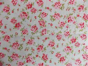 rose floral100 cotton fabric shabby chic vintage retro per metre pale mint no4